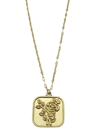 Rose Necklace Gold 1
