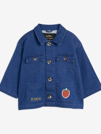 Strawberry Denim Safari Jacket