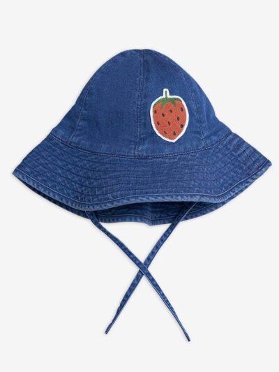 Strawberry Denim Sun Hat