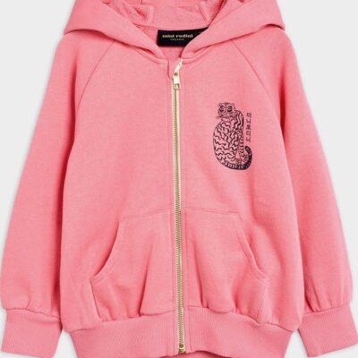Tiger Zip Hoodie Pink