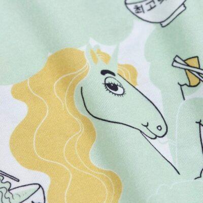 Unicorn Noodles Tee Green