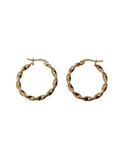 WOS Fold Earrings Gold 1