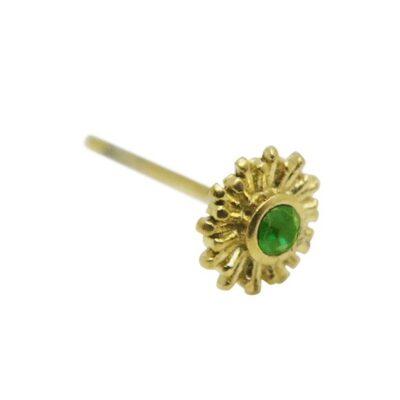 WOS Green Star Earrings Gold 1