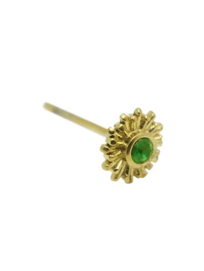 WOS Green Star Earrings Gold 1