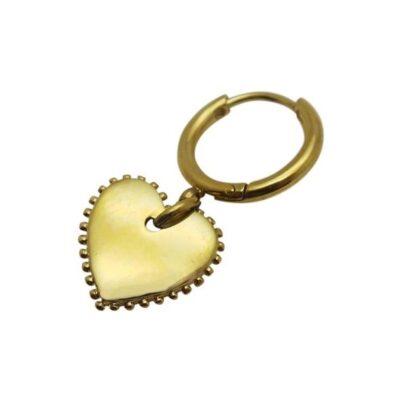 WOS Heart Single Earring Gold 1