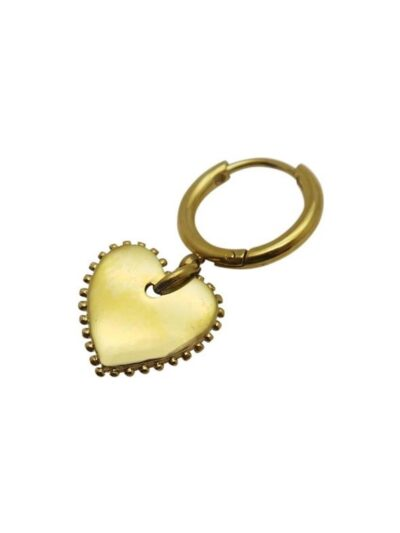 WOS Heart Single Earring Gold 1