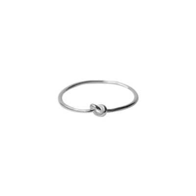 WOS Knot RIng Silver 1