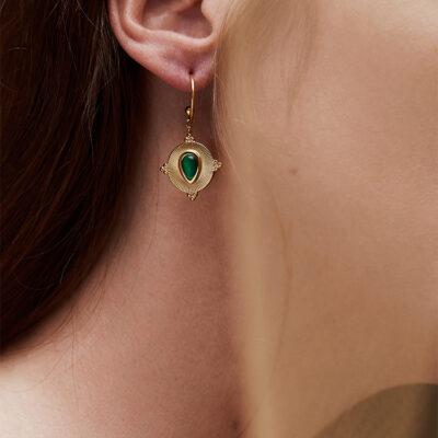 WOS Nancy Single Earring Gold 2