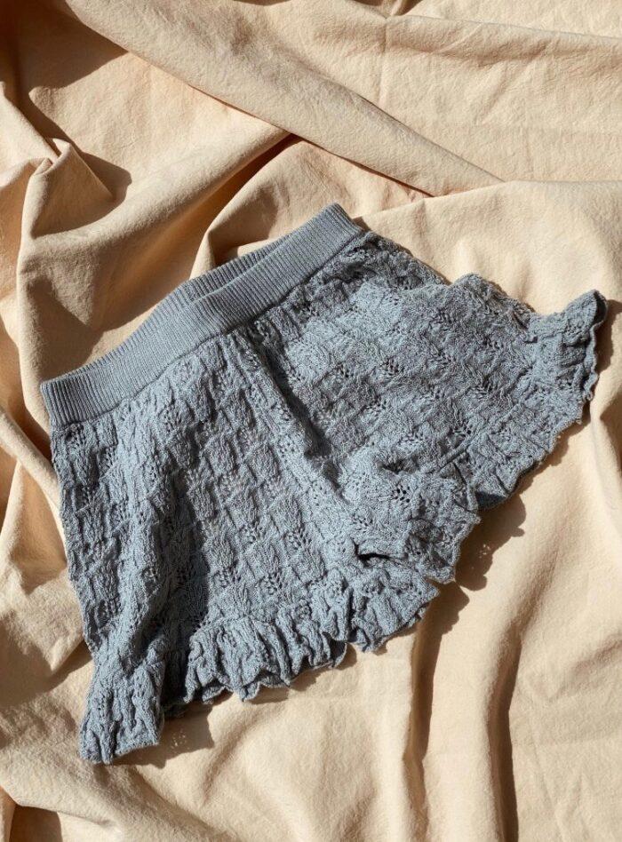 Konges Sløjd Cypress Frill Shorts Quarry blue