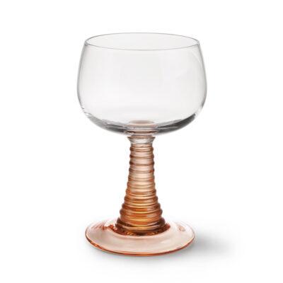 HK Swirl wine glass nude