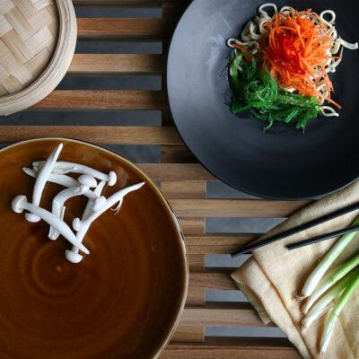 Japanese Dinner Plate Brown 4
