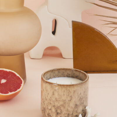 HK living Ceramic Soy Candle Casa fruits